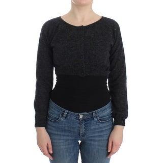 Ermanno Scervino Ermanno Scervino Gray Knit Wool Cardigan Sweater