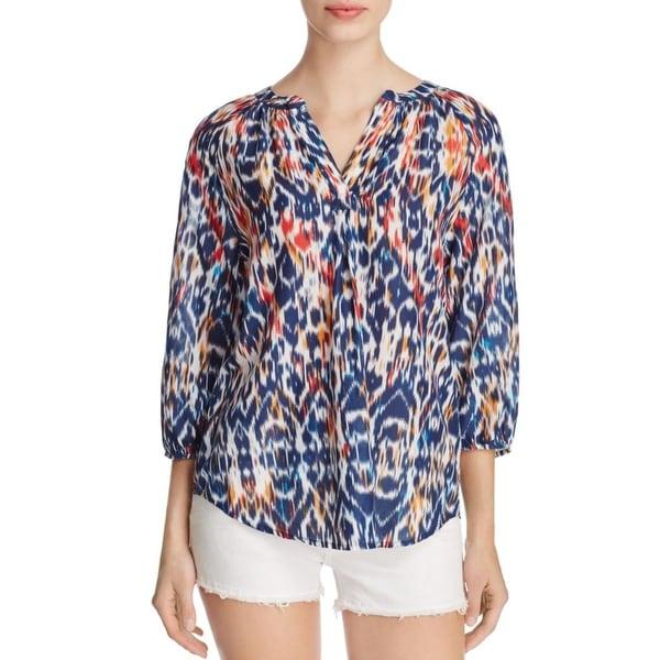Beach Lunch Lounge Womens Jamie Pullover Top 3/4 Sleeves Printed