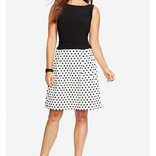 American Living NEW Black White Polka-Dot Print Women's 10 Sheath Dress