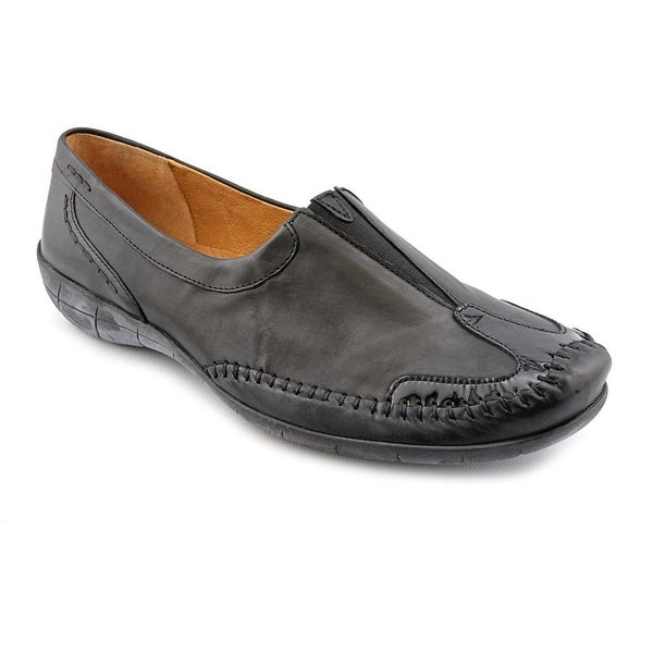 Gabor 72.513.51 Women W Round Toe Leather Black Loafer