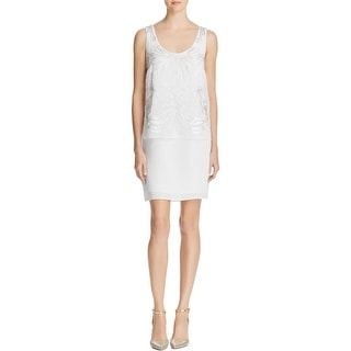Laundry by Shelli Segal Womens Party Dress Beaded Embroidered
