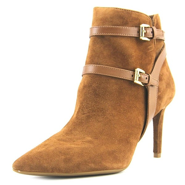 Michael Michael Kors Fawn Ankle Boots Women Pointed Toe Suede Brown Ankle Boot