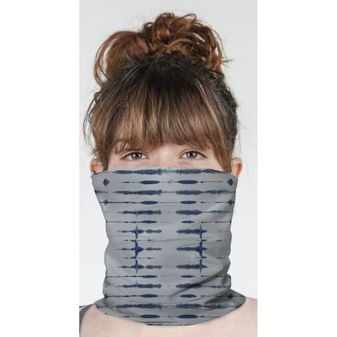 "THIN SHIBORI INDIGO Neck Gaiter By Becky Bailey - 10"" x 18"""