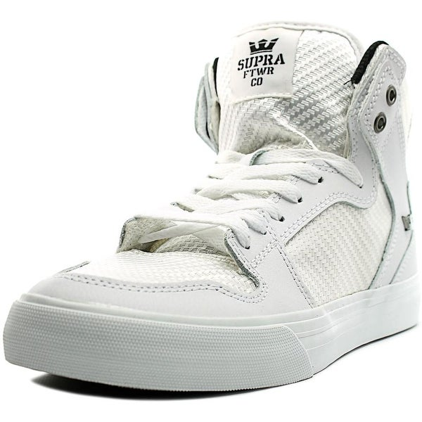 Supra Vaider Men White/White Skateboarding Shoes