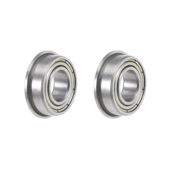 MF126ZZ Flange Ball Bearing 6x12x4mmm Shielded Chrome Bearings 2pcs