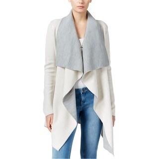 Bar Iii Womens Draped Cardigan Sweater