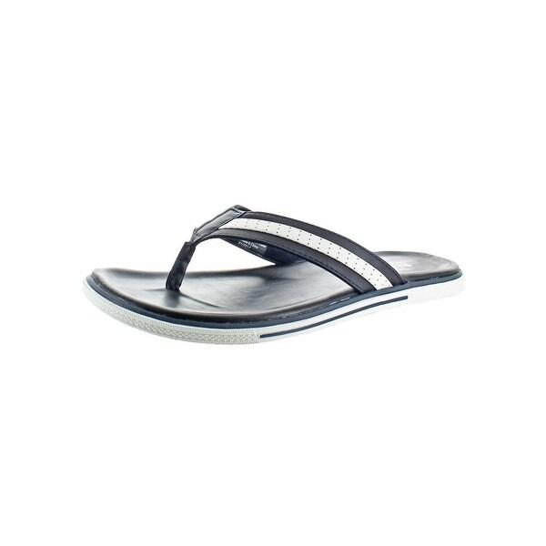 Kenneth Cole Reaction Mens Beach House Flip-Flops Casual Contrast Trim - 10 medium (d)