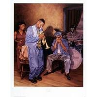 ''Blue Night'' by Jason Delancey Jazz Art Print (28 x 22 in.)