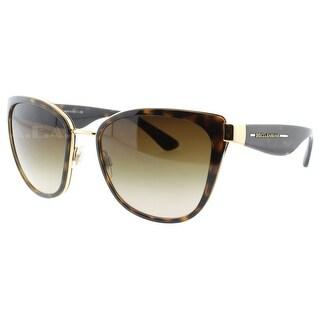 DOLCE & GABBANA Cat eye DG 2107 Women's 02/13 Havana Brown/Gold Brown Gradient Sunglasses - 57mm-19mm-135mm