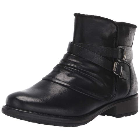Bare Traps Womens Selyna Leather Closed Toe Ankle Fashion Boots