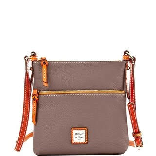 Dooney & Bourke Pebble Grain Letter Carrier (Introduced by Dooney & Bourke at $168 in Apr 2015) - Elephant