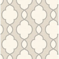 Brewster 2625-21819 Structure Light Brown Chain Link Wallpaper - Light Brown Chain Link - N/A