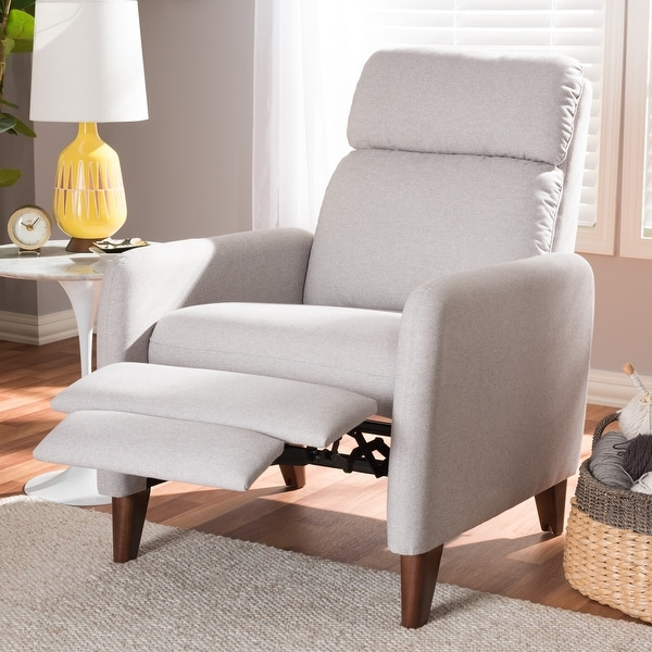 Mid-century Fabric Recliner by Baxton Studio. Opens flyout.