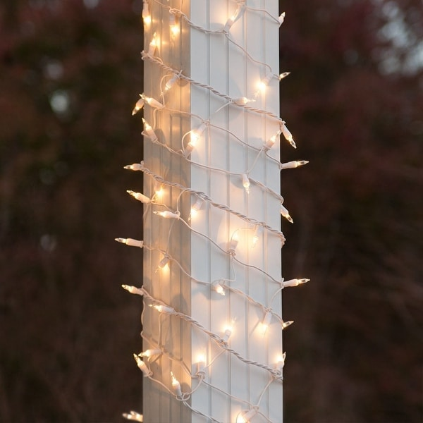 Wintergreen Lighting 71291 150 Bulb 6in x 15ft Decorative Holiday Net Light with White Wire - CLEAR - N/A