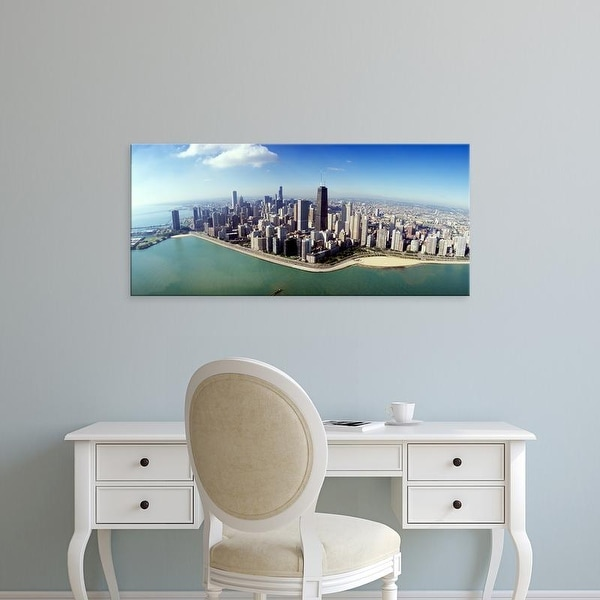 Easy Art Prints Panoramic Images's 'Aerial Chicago IL' Premium Canvas Art