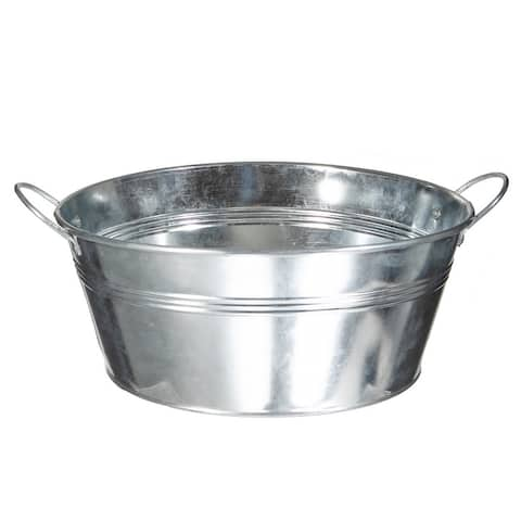 Aluminum Round Shallow Planter (large)