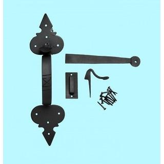 Door Latch Set Wrought Iron Exterior Door Fleur Lis 12 3/4