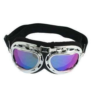 Ladies Man Metal Frame Silver Tone Rim Adjustable Strap Ski Goggles