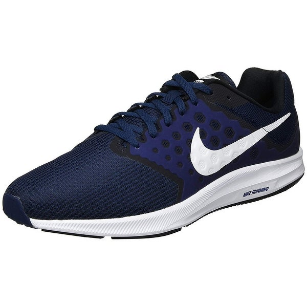 c675d166d618 Nike Mens Downshifter 7 Running Shoe (4E) Midnight Navy White Dark Obsidian