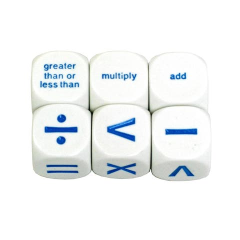 Math Operation Dice Set Of 6
