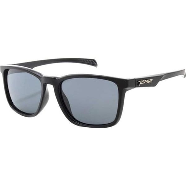 71da4f90352ee Shop Peppers Hat Trick Sunglasses Matte Black Over Shiny Black Smoke  Polarized - US One Size (Size None) - Free Shipping Today - Overstock -  27635804