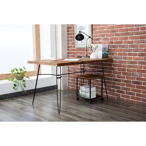Carbon Loft Payton Wood and Metal Rolling File Cabinet