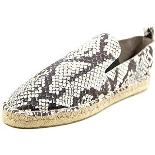 Vince Robin Round Toe Leather Espadrille