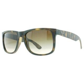 RAY-BAN Wayfarer RB 4165 Men's 710/13 Matte Havana Brown Brown Gradient Sunglasses - 54mm-16mm-145mm