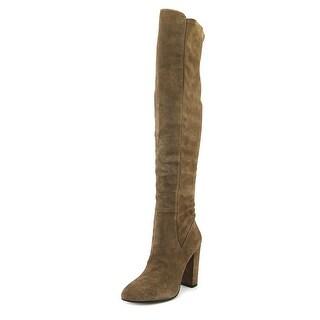 Aldo Antella Women  Round Toe Suede Tan Over the Knee Boot