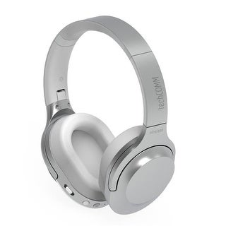 TechComm Clef Wireless Bluetooth CSR Foldable Headphones, Silver