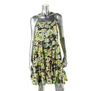 Hazel Womens Casual Dress Tiered Floral Print