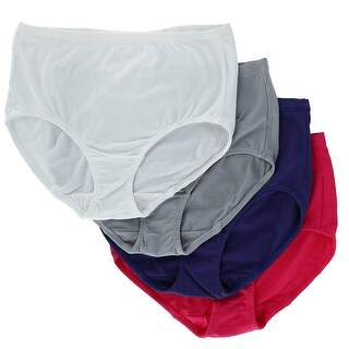 Fruit of the Loom Women's Breathable Cotton Mesh Briefs Underwear (4 Pair Pack)