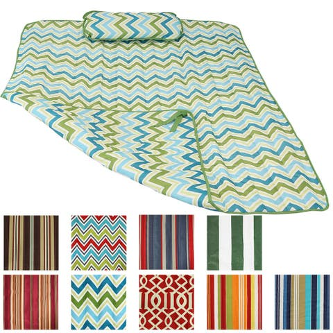 Sunnydaze Durable Outdoor Polyester Quilted Hammock Pad and Pillow Only - Option