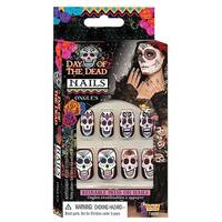 Day Of Dead Nails Costume Accessory - Black
