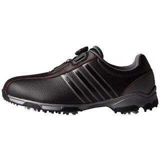 Adidas Men's 360 Traxion BOA Black/Black/Iron Metallic Golf Shoes F33447/F33214