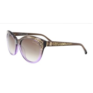 Link to Roberto Cavalli RC992S 50F TSEANG Brown Texture Lilac Fade Cat Eye Sunglasses - 55-18-140 Similar Items in Women's Sunglasses