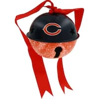 Chicago Bears Metal Glitter Bell Ornament