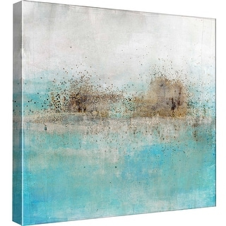 """PTM Images 9-98901  PTM Canvas Collection 12"""" x 12"""" - """"Granulated Aquamarine"""" Giclee Abstract Art Print on Canvas"""
