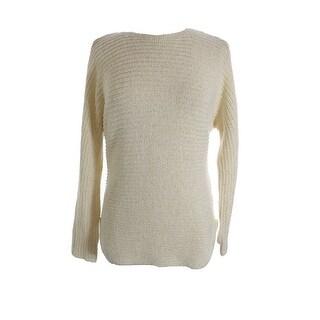 Tommy Hilfiger Shirttail Hem Long Sleeve Pullover Sweater - M