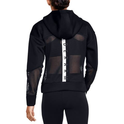 Under Armour Women's MOVE Relaxed Sweatshirt Hoodie, Black, M