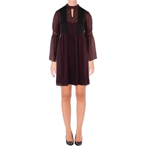 Jessica Simpson Womens Party Dress Chiffon Lace Trim