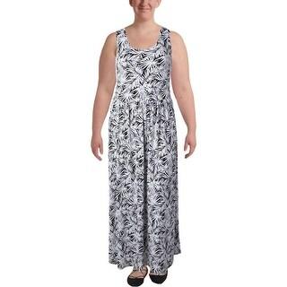 MICHAEL Michael Kors Womens Plus Maxi Dress Printed High Wast