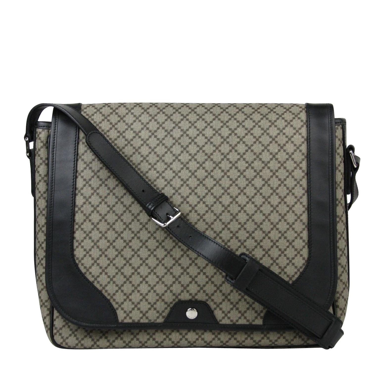 bbf9de3d8 Shop Gucci Men's Supreme Beige/Ebony Diamante Canvas Messenger Bag 295251  9769 - Beige - One size - Free Shipping Today - Overstock - 27603113
