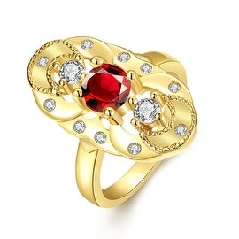 Mirror on The Wall Gold Ruby Ring