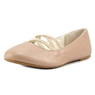 Nine West Ginger Youth  Round Toe Synthetic Nude Ballet Flats