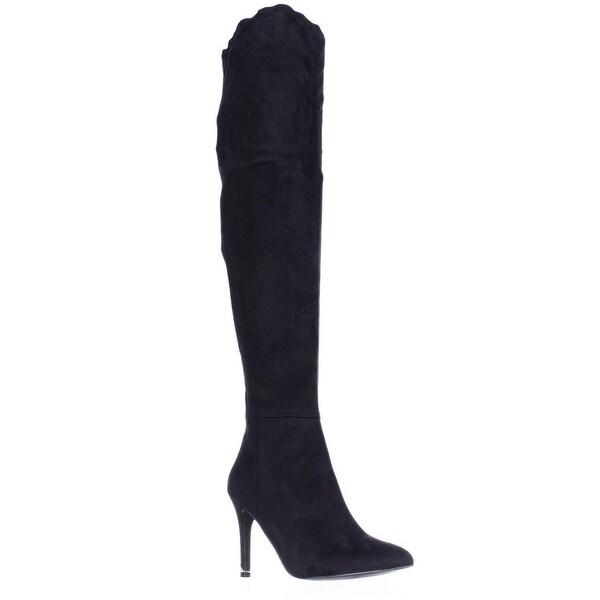 Call It Spring Rosenman Over The Knee Winter Boots, Black Nubuck