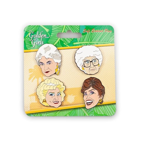 Golden Girls Collector Enamel Pin Set, 4 Pieces - White