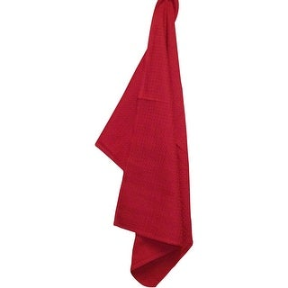 """Waffle Weave Tea Towel 20""""X28""""-Bright Red"""
