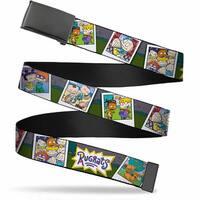 Blank Black  Buckle Rugrats Character Snapshots Webbing Web Belt