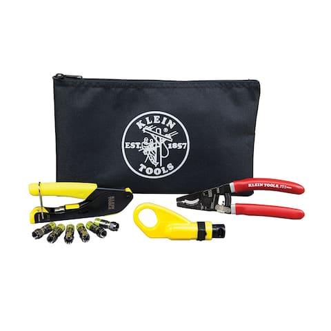 Klein tools coax cable installation kit w/zippered